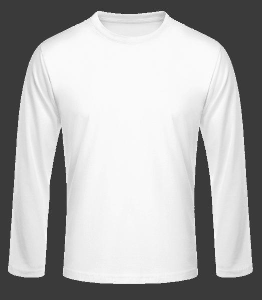 Men's Basic Longsleeve - White - Front
