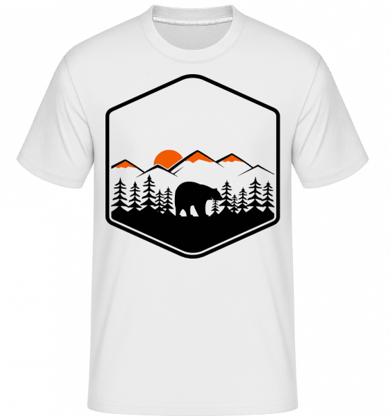 Bear Mountains Icon -  Shirtinator Men's T-Shirt - White - Vorn