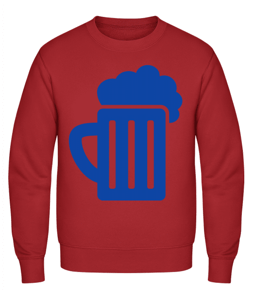 Beer - Classic Set-In Sweatshirt - Red - Vorn