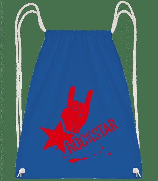 Rockstar Symbol - Gym bag - Royal blue - Vorn