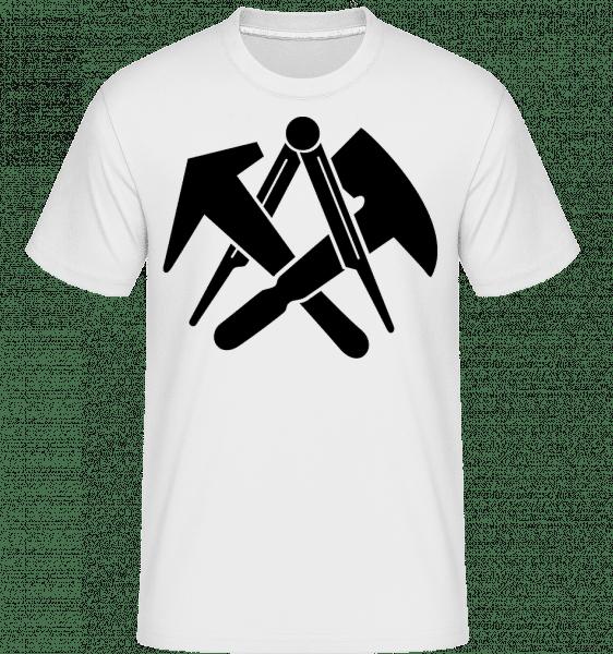 DIY Symbols -  T-Shirt Shirtinator homme - Blanc - Vorn