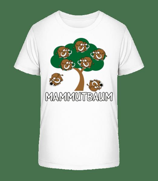 Mammutbaum - Kinder Premium Bio T-Shirt - Weiß - Vorn