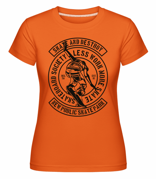 Skate And Destroy -  Shirtinator Women's T-Shirt - Orange - Vorn