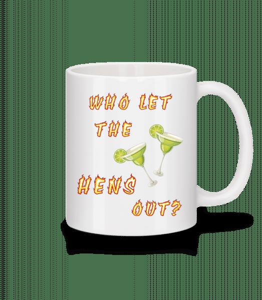 Who Let The Hens Out? - Mug - White - Vorn