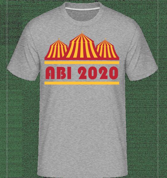 Abi Zirkus 2020 - Shirtinator Männer T-Shirt - Grau meliert - Vorn