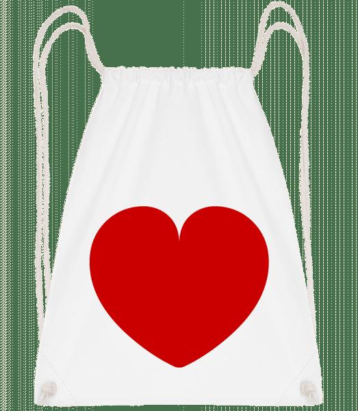 Herz - Turnbeutel - Weiß - Vorn