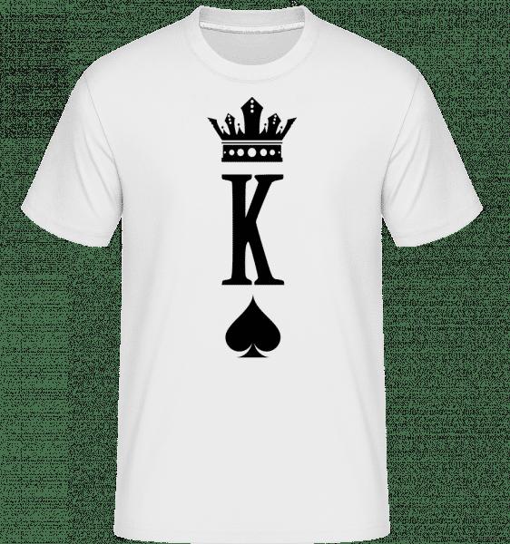 Poker King -  Shirtinator Men's T-Shirt - White - Vorn