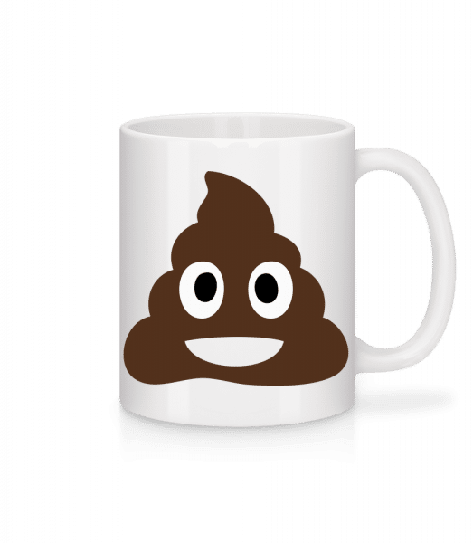 Shit Emoji - Mug - White - Front