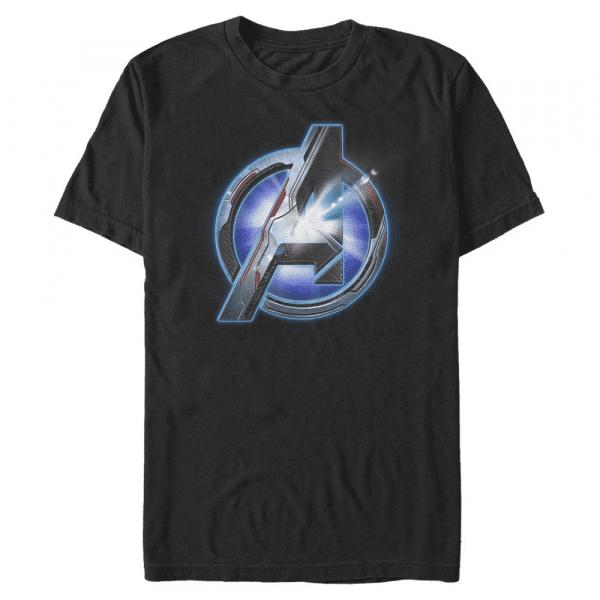 Endgame logo Shine Logo - Marvel Avengers Endgame - Men's T-Shirt - Black - Front