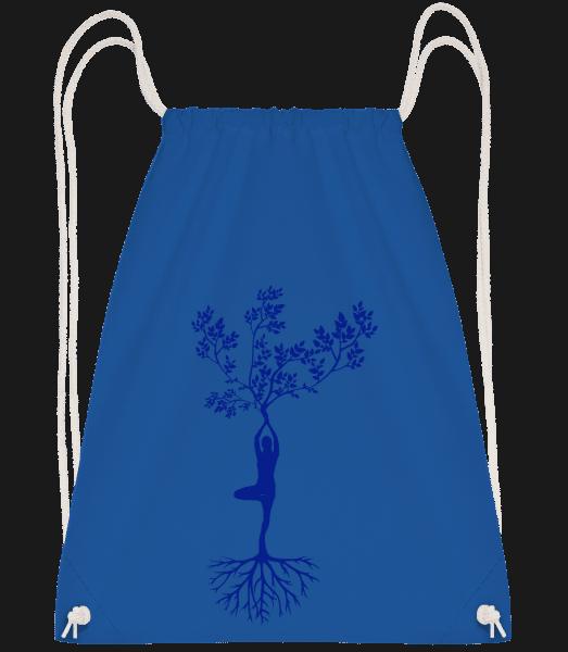 Harmonic Yoga Earth Tree - Drawstring Backpack - Royal blue - Vorn