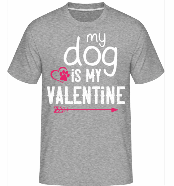 My Dog Is My Valentine -  Shirtinator Men's T-Shirt - Heather grey - Vorn