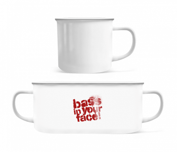 Bass In Your Face - Enamel-cup - White - Front
