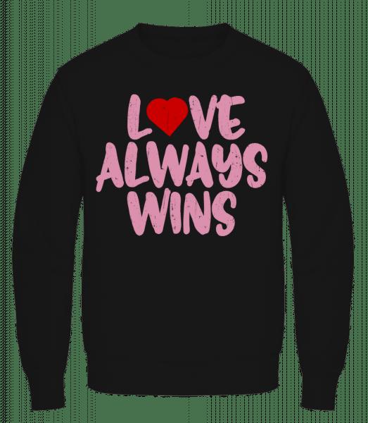 Love Always Wins - Men's Sweatshirt AWDis - Black - Vorn