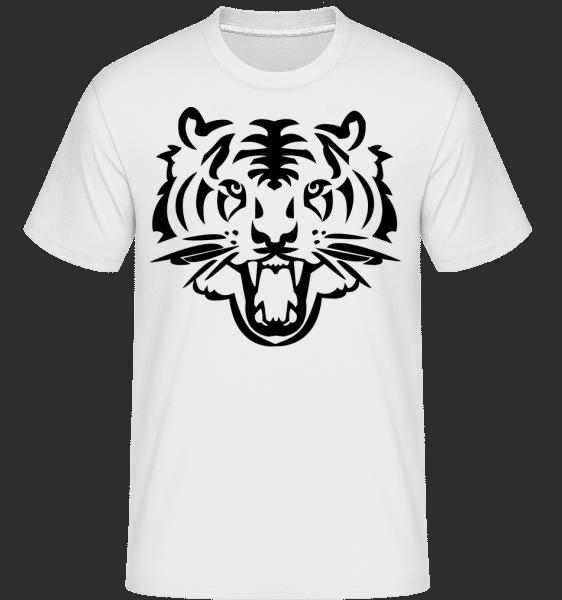 Tiger Head -  Shirtinator tričko pro pány - Bílá - Napřed