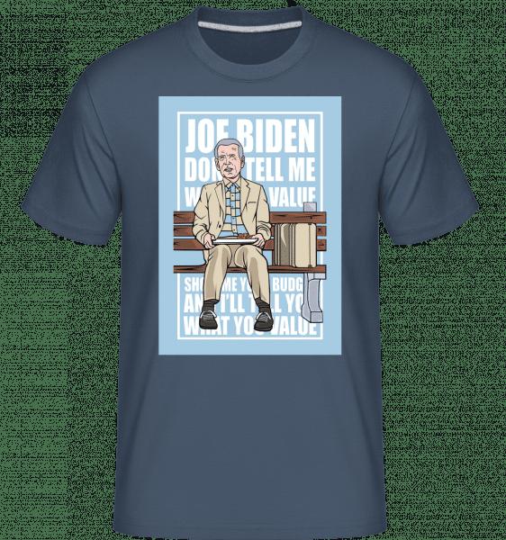 Joe Biden Forest Gump -  Shirtinator Men's T-Shirt - Denim - Vorn