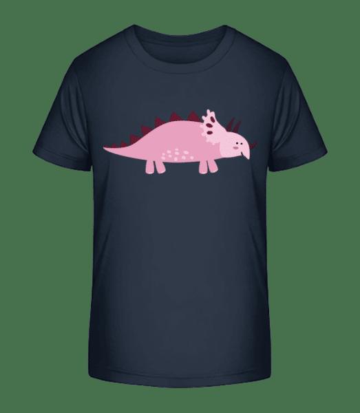 Triceratops - Detské Premium Bio tričko - Namořnická modrá - Napřed