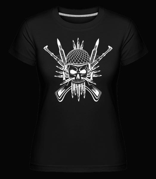Soldier Skull Tattoo -  Shirtinator Women's T-Shirt - Black - Vorn