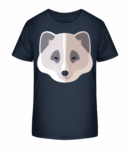 Racoon Comic Shadow - Kid's Premium Bio T-Shirt - Navy - Vorn