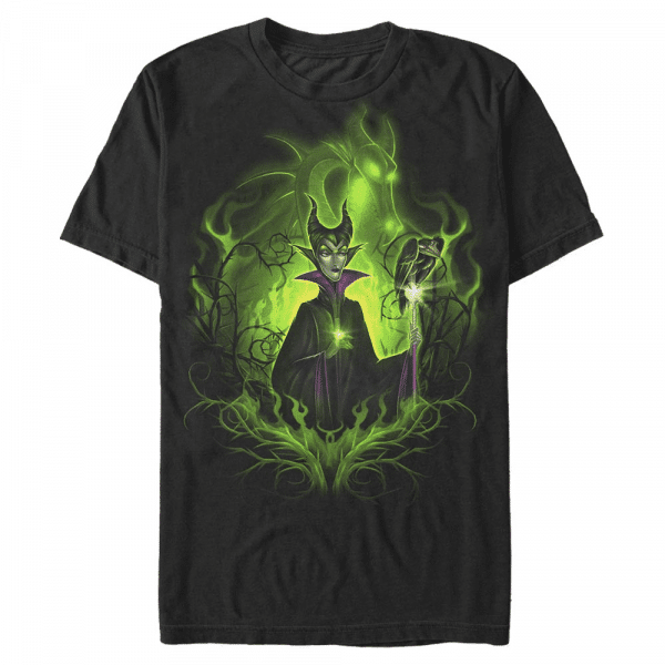 Dark Fairy Maleficent - Disney Sleeping Beauty - Men's T-Shirt - Black - Front