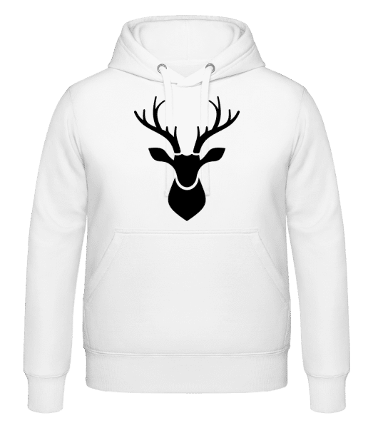Deer Shadow - Hoodie - White - Vorn