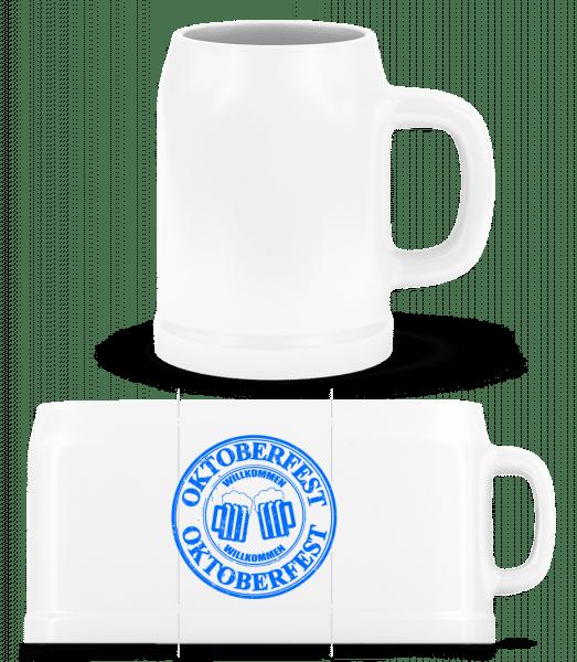 Oktoberfest Logo - Pivní půlliter - Bílá - Napřed