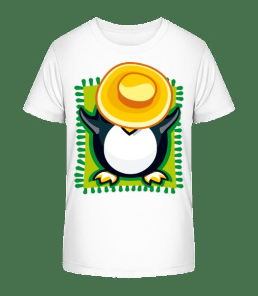 Penguin Sunbath - Kid's Premium Bio T-Shirt - White - Vorn
