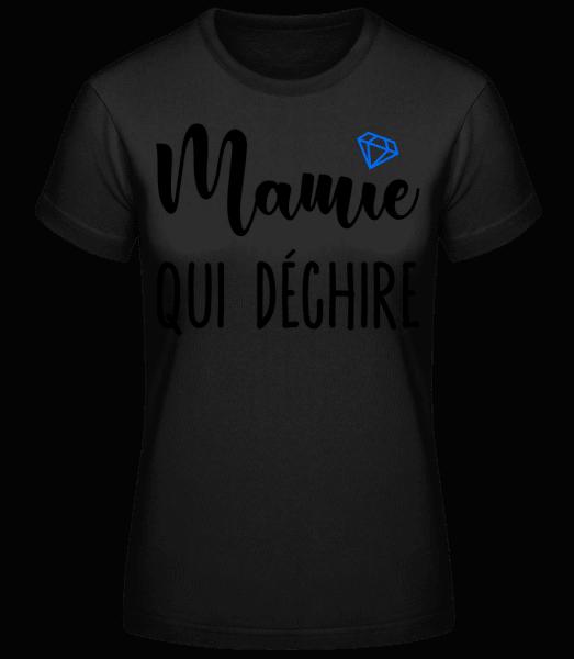 Mamie Qui Déchire - T-shirt standard Femme - Noir - Vorn