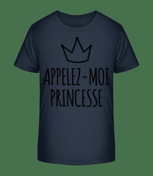 Appelez-Moi Princesse - T-shirt bio Premium Enfant - Bleu marine - Vorn