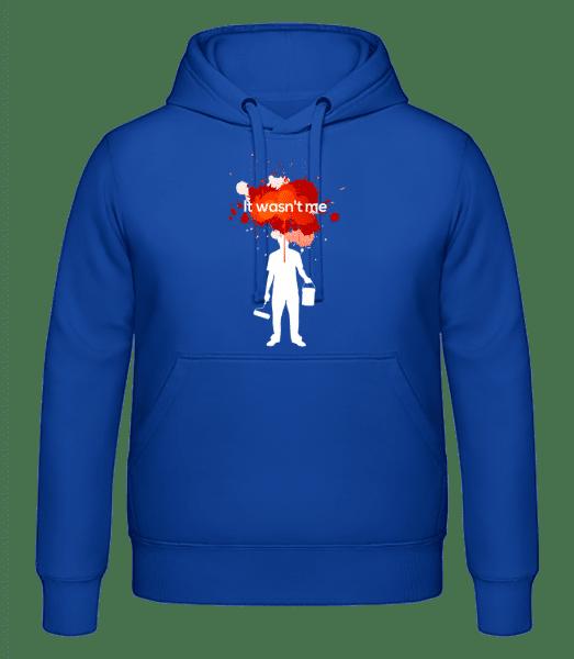 It Wasn't Me - Men's hoodie - Royal blue - Vorn