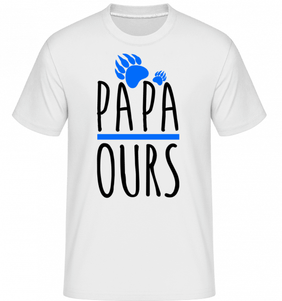 Papa Ours -  T-Shirt Shirtinator homme - Blanc - Vorn