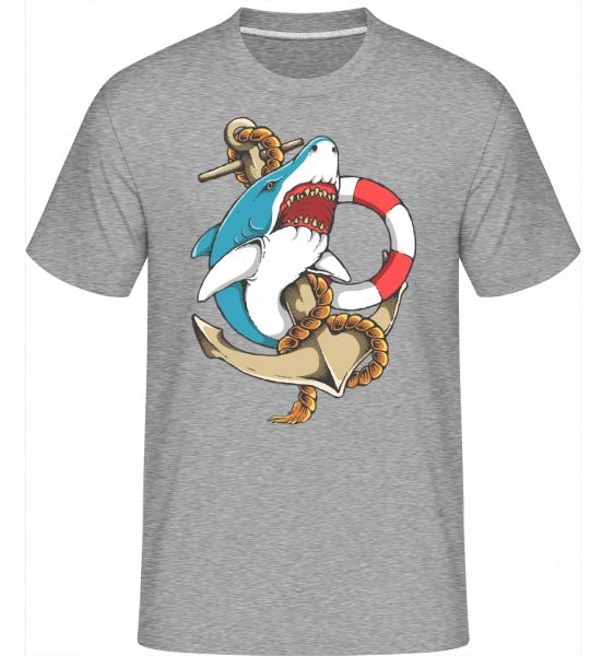 Shark and Anchor -  Shirtinator Men's T-Shirt - Heather grey - Vorn