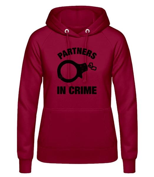 Partner in crime - Women's Hoodie - Bordeaux - Front
