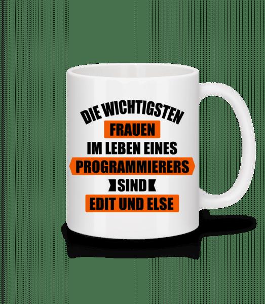 Programmierer Edit Else - Tasse - Weiß - Vorn