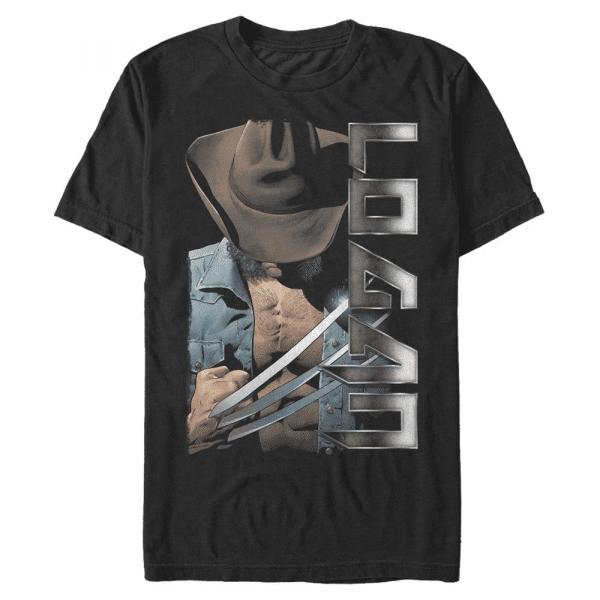 Logan Wolverine - Marvel X-Men - Men's T-Shirt - Black - Front