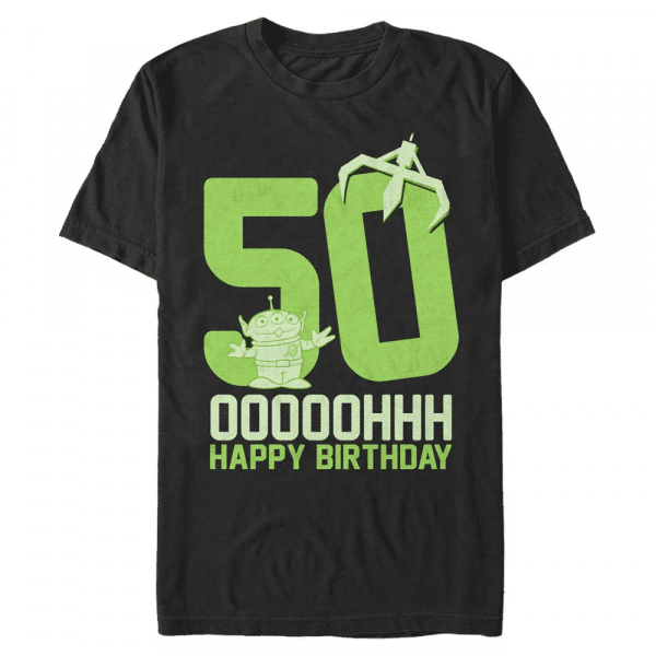 Ooohh Fifty Group Shot - Pixar Toy Stoy - Men's T-Shirt - Black - Front