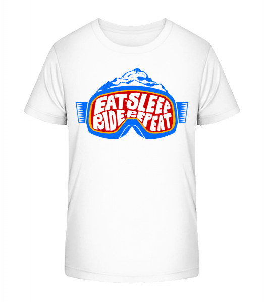 Eat Sleep Ride Repeat - Kinder Premium Bio T-Shirt - Weiß - Vorn