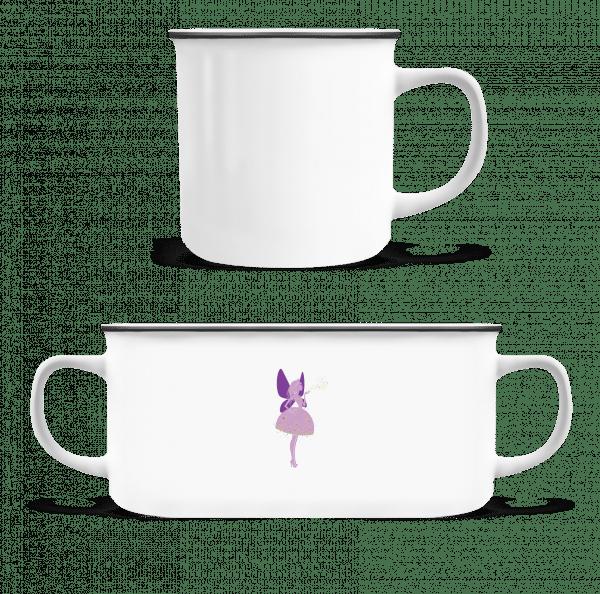 Prinzessinnen Fee - Emaille-Tasse - Weiß - Vorn