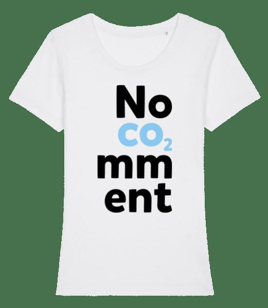 No Comment - Frauen Premium Bio T-Shirt Stanley Stella - Weiß - Vorn