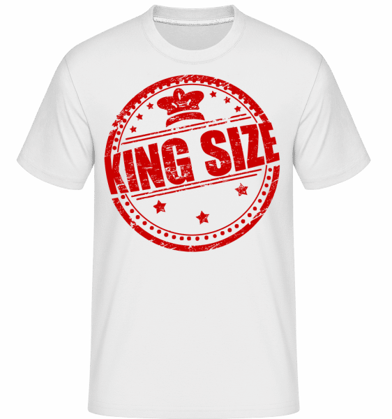 King Size Logo -  Shirtinator Men's T-Shirt - White - Vorn