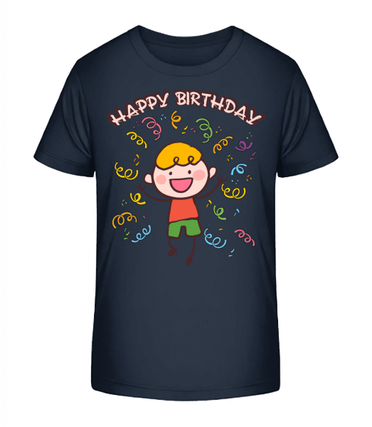 Happy Birthday Tanz - Kinder Premium Bio T-Shirt - Marine - Vorn