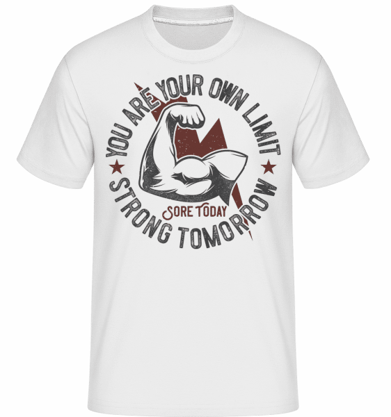 You Are Your Own Limit -  Shirtinator Men's T-Shirt - White - Front