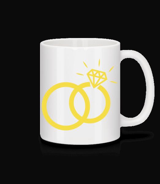 Eheringe - Tasse - Weiß - Vorn