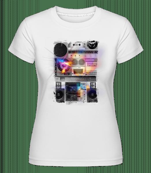 Ghettoblaster -  Shirtinator Women's T-Shirt - White - Vorn