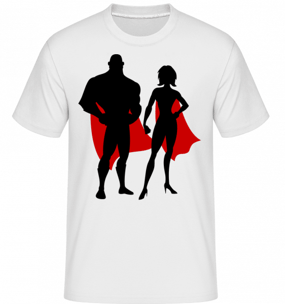 Superheroes With Cape - Shirtinator Männer T-Shirt - Weiß - Vorn