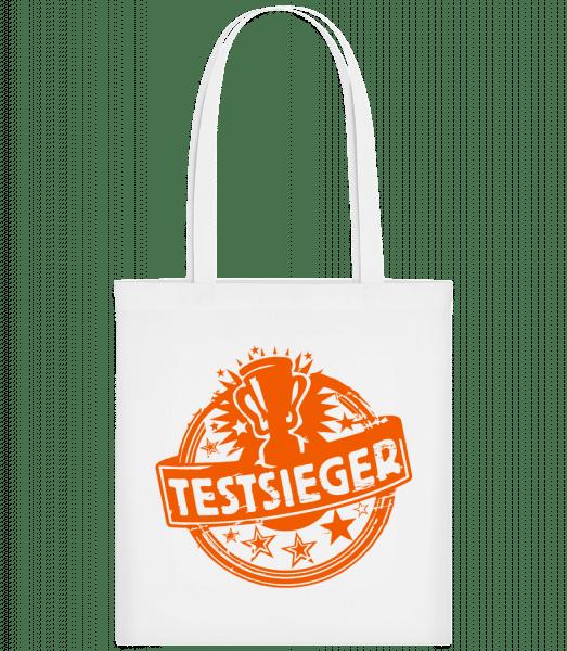 Testsieger Icon - Stoffbeutel - Weiß - Vorn