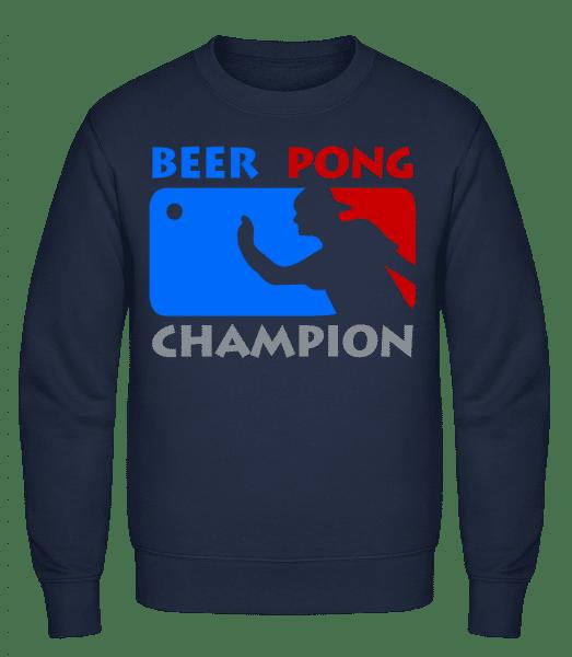 Beer Pong Champion - Classic Set-In Sweatshirt - Navy - Vorn