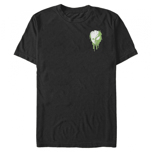 Venomized Groot Badge - Marvel - Men's T-Shirt - Black - Front