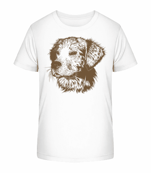 Little Dog - Kid's Premium Bio T-Shirt - White - Front