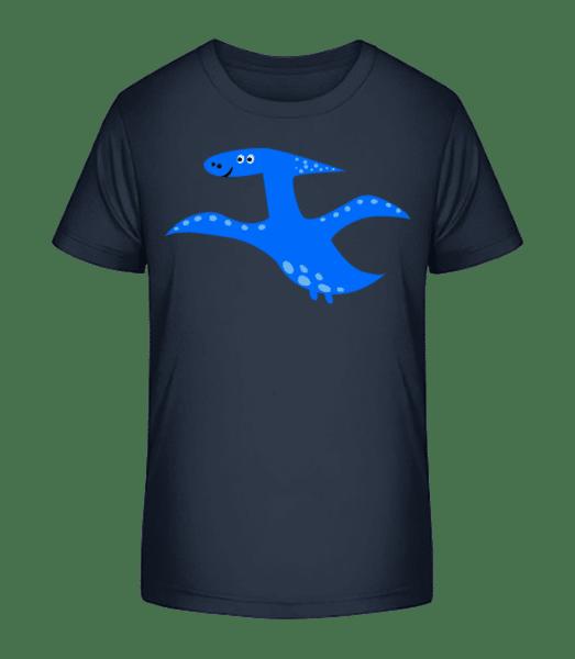 ptakoještěr - Detské Premium Bio tričko - Namořnická modrá - Napřed