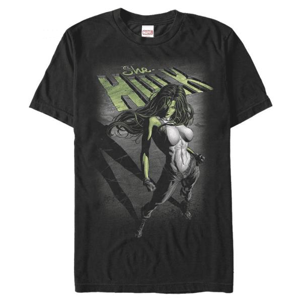 Incredible She She-Hulk - Marvel - Men's T-Shirt - Black - Front